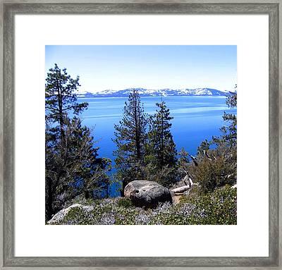 Tranquil Lake Tahoe Framed Print