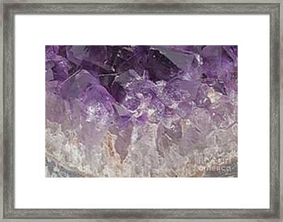 Tranquil Lavender Contemporary Art Design Framed Print by Rebecca Lemke
