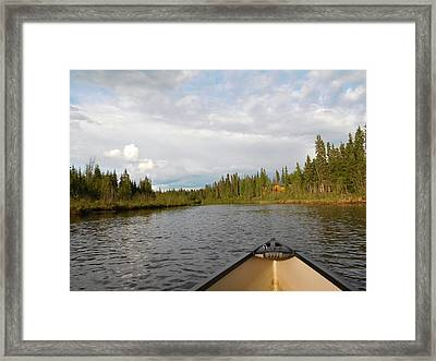 Tranquil Moment North Pole Ak Framed Print by Diannah Lynch