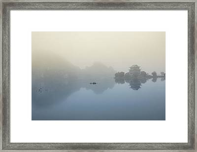 Vietnam - Tranquil Pagoda Framed Print by Martin Capek