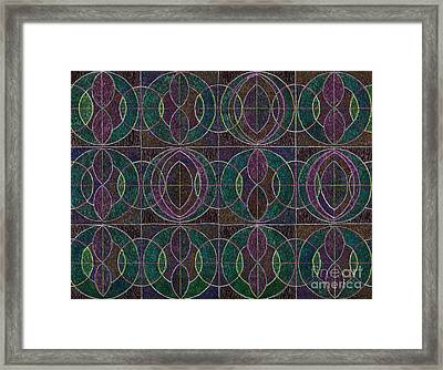 Tranquil Pattern Framed Print by Norma Appleton
