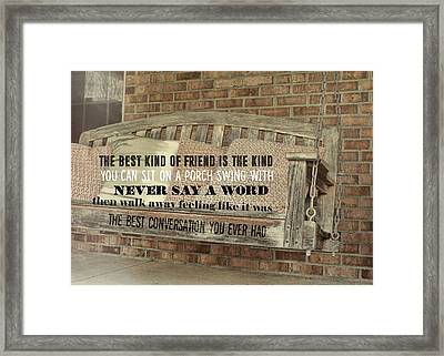 Tranquil Quote Framed Print by JAMART Photography