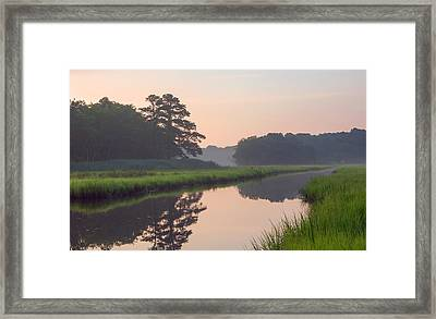 Tranquil Reflections Framed Print by Allan Levin