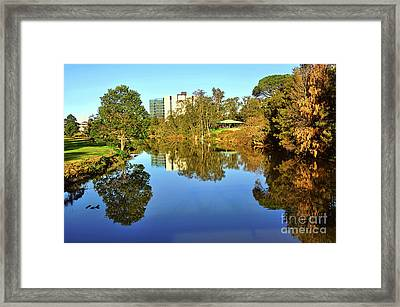 Framed Print featuring the photograph Tranquil River By Kaye Menner by Kaye Menner