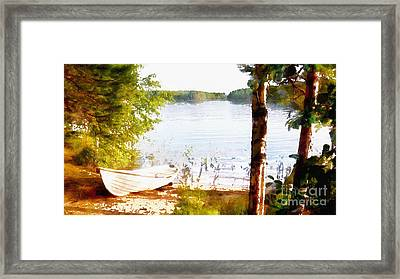 Tranquil River Framed Print by Shirley Stalter