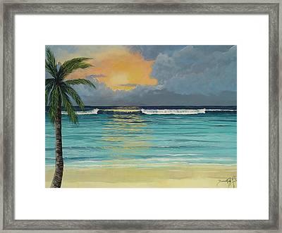 Tranquil Sunset Framed Print by Barbara Keel