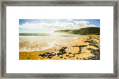Tranquil Tasmanian Beach Paradise Framed Print by Jorgo Photography - Wall Art Gallery
