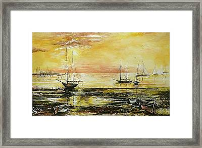 Tranquil Tide Framed Print by Andrew Read
