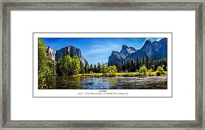 Tranquil Valley Poster Print Framed Print by Az Jackson