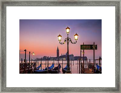 Tranquil Venice Framed Print by Andrew Soundarajan