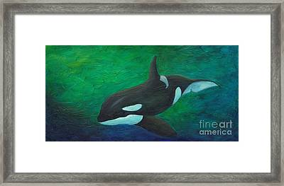 Framed Print featuring the painting Tranquile Force by Phyllis Howard
