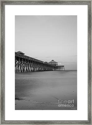 Tranquility At Folly Grayscale Framed Print