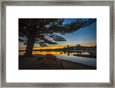 Tranquility At Sunset Framed Print