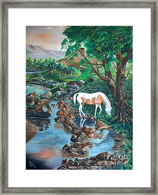 Framed Print featuring the painting Tranquility by Farzali Babekhan
