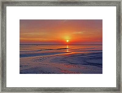 Tranquility - Florida Sunset Framed Print by HH Photography of Florida