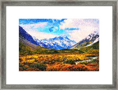 Tranquility In The Highlands Framed Print by Celestial Images