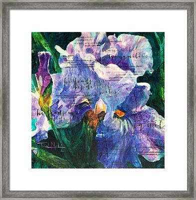 Tranquility - Iris Framed Print by Trish McKinney