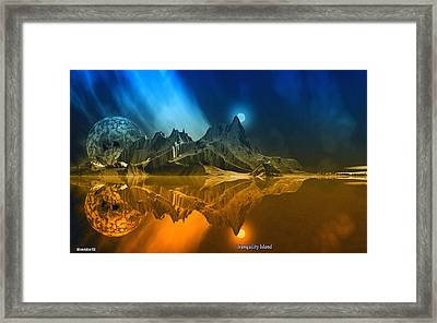 Tranquility Island. Framed Print by David Jackson