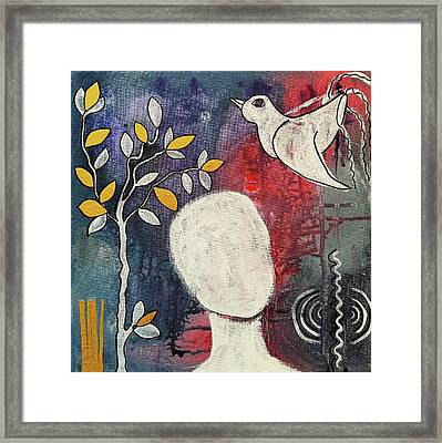 Framed Print featuring the mixed media Tranquility by Mimulux patricia no No