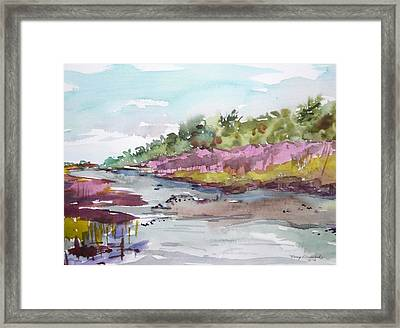 Tranquility Framed Print by Nancy Brennand