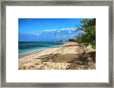 Tranquility On The Beach Framed Print by Kasia Bitner