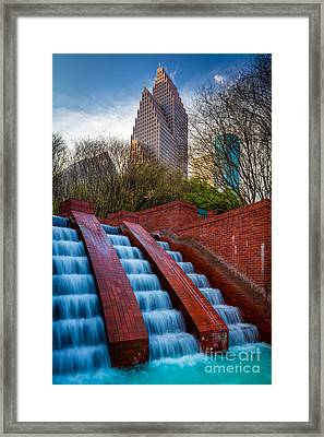 Tranquility Park Fountain Framed Print by Inge Johnsson