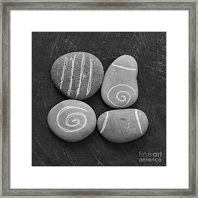 Tranquility Stones Framed Print by Linda Woods