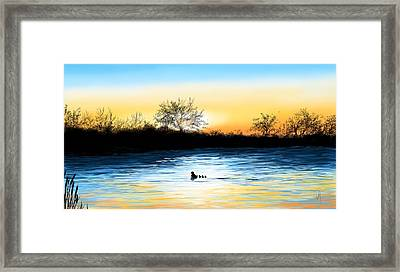 Tranquility Framed Print by Veronica Minozzi