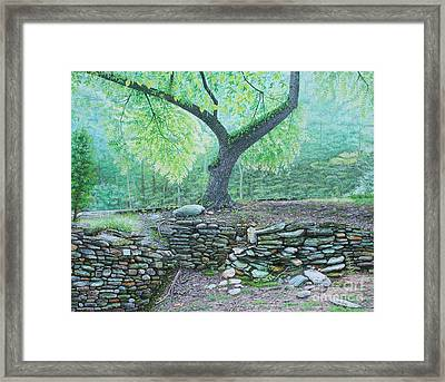 Framed Print featuring the painting Tranquillity by Mike Ivey