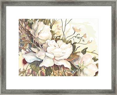 Tranquility Study In White Framed Print