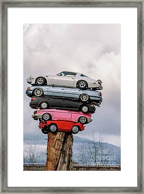 Trans-am Totem Framed Print by Viktor Birkus