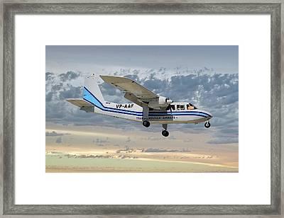 Trans Anguilla Airways Britten-norman Bn-2b-21 Islander 114 Framed Print