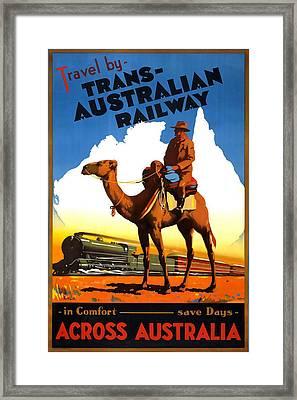 Trans Australian Railway Framed Print