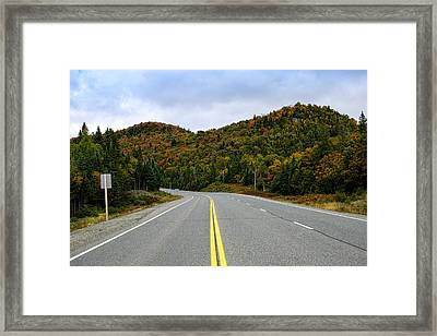 Trans-canada Highway Through Northern Framed Print by Panoramic Images