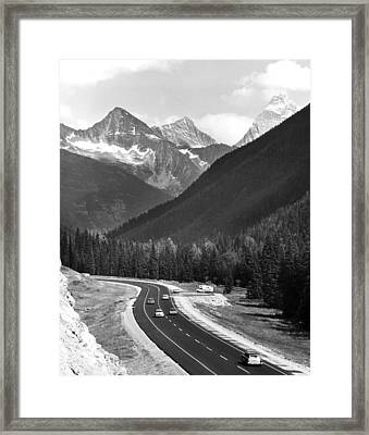 Trans-canada Highway Framed Print by Underwood Archives