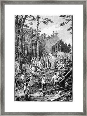 Trans-siberian Railway Laborers, 1890s Framed Print