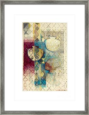 Framed Print featuring the painting Trans Xs No 1 by Kerryn Madsen- Pietsch