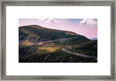 Transalpina Road - Romania - Travel Photography Framed Print by Giuseppe Milo