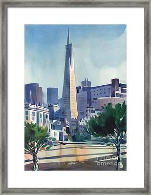 Transamerica Building Framed Print by Donald Maier
