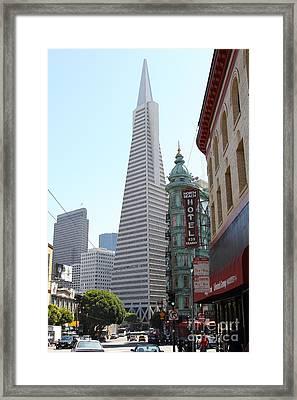 Transamerica Pyramid Through North Beach San Francisco . 7434 Framed Print
