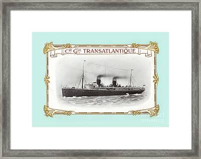Transatlantique Framed Print
