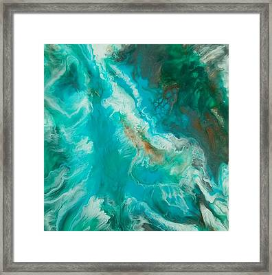 Framed Print featuring the painting Transcend  by Christie Minalga
