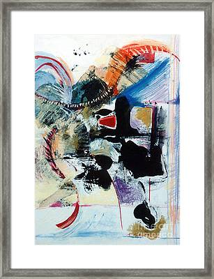 Framed Print featuring the drawing Transcendance  by Kerryn Madsen-Pietsch