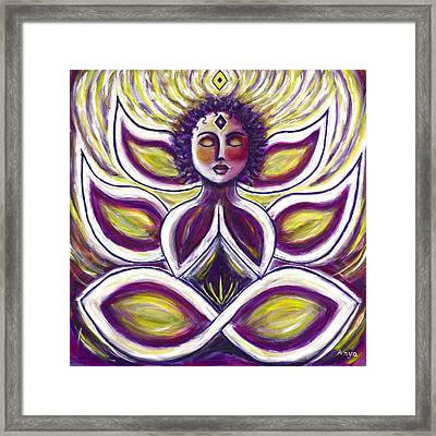 Framed Print featuring the painting Transcendence by Anya Heller