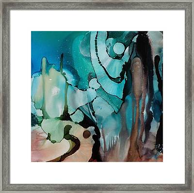 Transcendence Wth Goddess Framed Print by Suzanne Canner