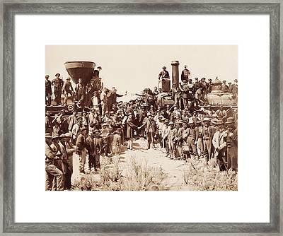 Transcontinental Railroad - Golden Spike Ceremony Framed Print
