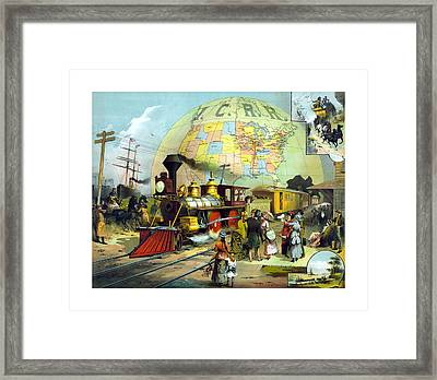 Transcontinental Railroad Framed Print by War Is Hell Store