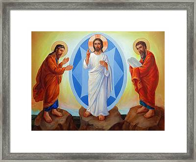 Transfiguration Of Jesus Framed Print by Svitozar Nenyuk