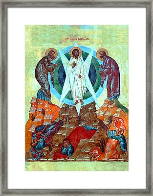 Transfiguration Of The Lord Framed Print by Munir Alawi