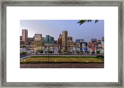 Transformation At Dusk Framed Print